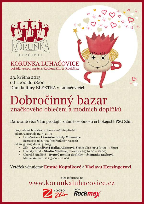 Dobročinný bazar Korunky Luhačovice 2013